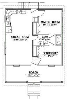 Turn Bedroom Into A Large Closet Complete House Plans 648 S F Mother In Law  Cottage