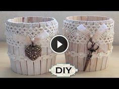 Oggi vi mostro questo video molto grazioso ,un idea facile ed economica ,realizzare dei barattoli shabby chic, un progetto da realizzare per le