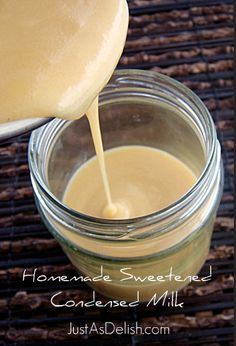 Homemade Sweetened Condensed Milk Recipe I have made this several times as directed in the recipe for the quick version and everytime it has come out perfect! This time I doubled the recipe except I only used 1/3 cup of sugar for the whole recipe and it still came out delish! I use this for coconut popsicles and for homemade coffee creamer.