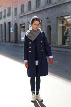 Street style in Milan (via On the Street…..Via Montenapoleone, Milan «The Sartorialist) #fashion