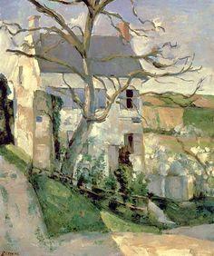 "Paul Cezanne 1839-1906. ""Casa con árboles ""1886"