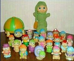 "It's ""Glow Worm and Friends!"" **have the little plastic knitting glow worm still and he still glows in the dark!"