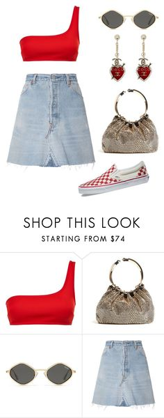 """""""Untitled #1570"""" by lucyshenton ❤ liked on Polyvore featuring STELLA McCARTNEY, BeBop, RE/DONE, Vans and Chanel"""