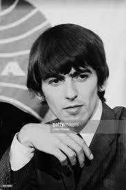 George Harrison of the Beatles in front of a Pan Am airlines logo at Los Angeles airport, Los Angeles, California, August (📷Julian Wasser—The LIFE Images Collection/Getty Images) Life Pictures, Life Images, Who Was Born Today, George Harrison Young, Happy Birthday To You, Les Beatles, George Beatles, Beatles Meme, Beatles Poster