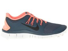 Nike Free 5.0 Womens Navy Blue Total Orange