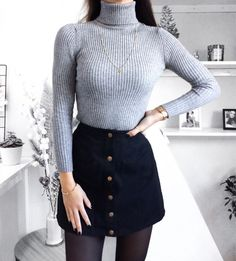 Casual Winter Outfit Ideas Mode de Vie Zara Woman Winter Collection - My Favorite Clothing Items Winter Outfits 2019, Casual Winter Outfits, Fall Outfits, Dress Casual, Winter Outfits With Skirts, Black Outfits, Dress Outfits, Cute Winter Clothes, Party Outfit Winter