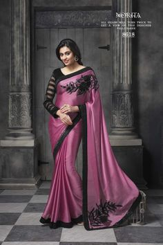 Buy Pink Satin Designer Saree Online in low price at Variation. Huge collection of Designer Sarees for Wedding. #designer #designersarees #sarees #onlineshopping #latest #lowprice #variation. To see more - https://www.variationfashion.com/collections/designer-sarees