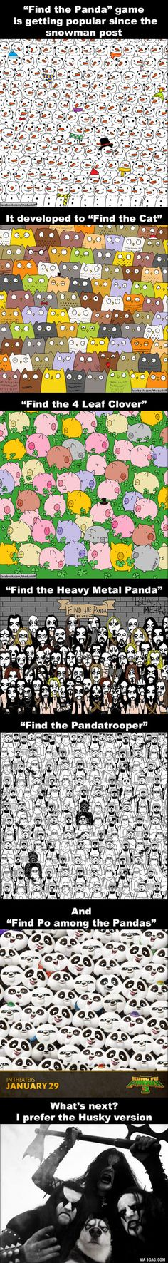 """Find the Panda"" Game is getting more intense. Can you find the panda in these pictures?"