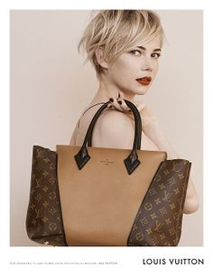 The softly styled images debuted two of the most talked-about bags of the season: the Louis Vuitton W bag, pictured here, and the Capucines bag, seen in the previous image.