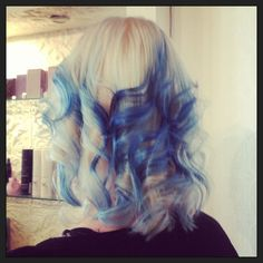 Blue Hair by Kaley @thebeautyparlour