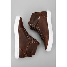 OTW By Vans Alomar NA Series Sneaker via Polyvore featuring shoes, sneakers, leather hi tops, vans sneakers, leather hi top sneakers, vans high tops and waffle shoes