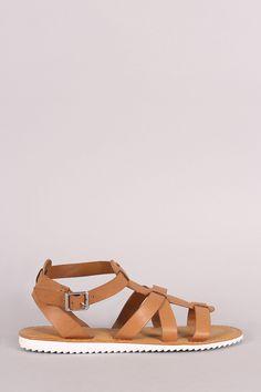 019ff597119f Bamboo Strappy Lug Sole Flat Sandal