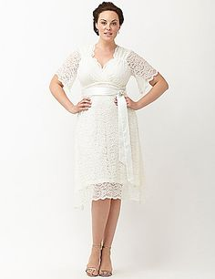 Kiyonna Lace Confection wedding dress by Kiyonna