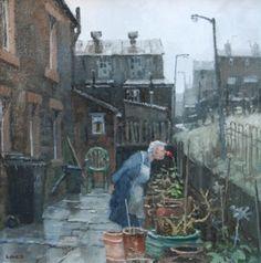 British Artist John LINES-Red Rose Day