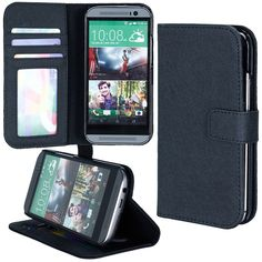 ABACUS Abacus24-7 HTC ONE M8 PocketBook Wallet Case Cover #091-ONE2-CS-BK
