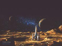 Fantasy Wallpaper: Bob Eggleton - Retro Rocket
