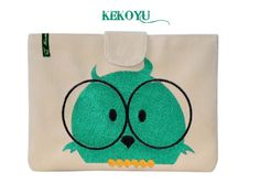Eule iPad mini Tasche Laptop // Owl ipad mini purse by Kekoyu via DaWanda.com