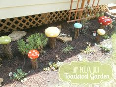 diy garden decorations | Craftaholics Anonymous® | DIY Garden Decor: Whimsical Toadstools