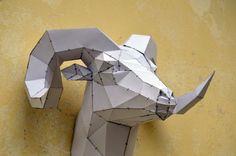 Hacer su propia escultura de cabeza de carneros. por PlainPapyrus