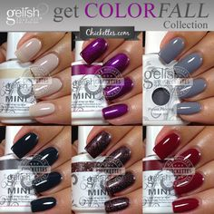 Gelish Get Color-Fall Collection Swatches by Chickettes.com