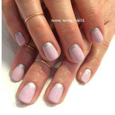pastel pink #reversefrench #shellac #naildesign #nailart #nailporn #nailjunkie #nailgasm #raffian #ruffian #nails #prettynails #wowwownails #toronto