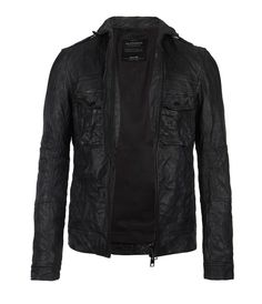 AllSaints Shift Leather Bomber Jacket