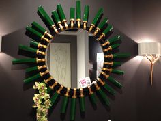 Jade and gold add Old Hollywood style to the Quartz mirror from Christopher Guy #HATtag #lvmkt Market favorites by Home Accents Today