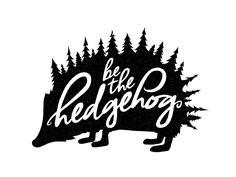 """be the hedgehog."" by Luke Medlock #Design Popular #Dribbble #shots"
