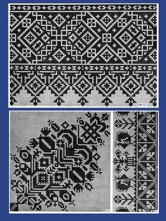 Dažādi raksti rūtiņu tehnikā - Rokdarbu grāmatas un dažādas shēmas Cross Stitch Borders, Cross Stitch Charts, Cross Stitch Designs, Cross Stitching, Cross Stitch Patterns, Blackwork Embroidery, Folk Embroidery, Cross Stitch Embroidery, Embroidery Patterns