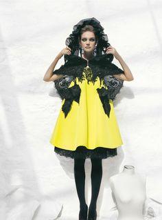 Natalia Vodianova in 'Handmade's Tale' Photographer: Patrick Demarchelier Dress: Christian Lacroix Haute Couture F/W 2008/09 Vogue US Octobe...
