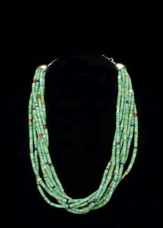 Green Turquoise Eight Strand Necklace Eight strands of genuine green  Turquoise and various genuine natural stone 3a63d52fb3c3