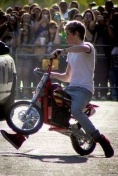 Hes in a band, hes Irish, he can sing, he plays the guitar, and he drives a motorcycle!! Could he be anymore perfect?!?!?!