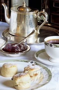 TEA, BISCUITS AND JAM, YUMMY!.
