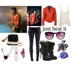 Michael Jackson Inspired Looks: Beat It Michael Jackson Bad Costume, Michael Jackson Outfits, Michael Jackson Party, Michael Jackson Merchandise, Disney Themed Outfits, Inspired Outfits, Cool Outfits, Fashion Outfits, Fashion Trends