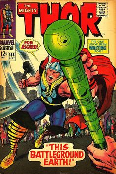 Thor #144 (Sep '67) cover by Jack Kirby & Vince Colletta. #comics