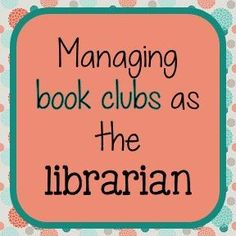 How I have book clubs as the librarian at my elementary school. Includes list of books she's done with grade. Library Plan, Library Lesson Plans, Library Center, Library Skills, Library Lessons, Library Books, Library Ideas, Library Events, Future Library