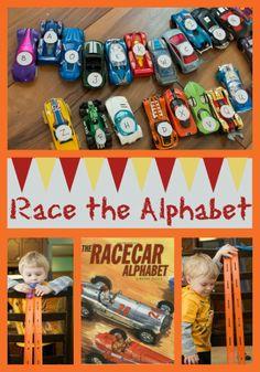 Life with Moore Babies: Poppin's Book Nook - Racecar Alphabet
