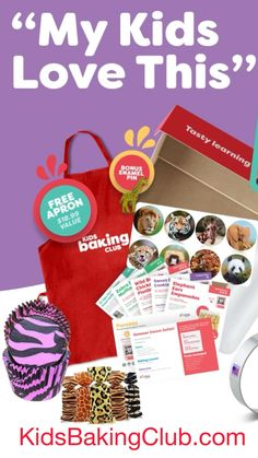 Inspire your kids confidence & creativity with baking kits for The holidays. KidsBakingClub.com Holiday Special: Free Kids Apron