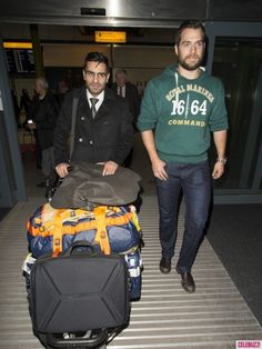 A Newly Single Henry Cavill Turns Heads at Heathrow Airport