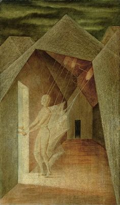 Artwork by Remedios Varo, LOS HILOS DEL DESTINO, Made of oil on masonite