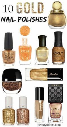 GOLD NAIL POLISH IDEAS #beautytidbits #holidaymani  #nailart
