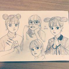 "953 Likes, 4 Comments - Ryo Murata (@ryooo.m5) on Instagram: ""✏︎ #ryomurata #artwork #artworks #drawing #illust #illustration #sketch #pencil #girl"""