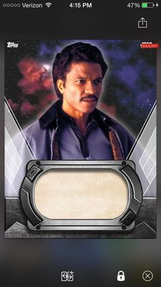 Star Wars Card Trader Lando Calrissian Unsigned Signature Card (60) Super Rare