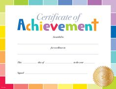 Award Certificate Template  Occupational Therapy