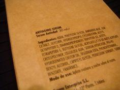 Ingredientes Antiaging Serum de Crea-m