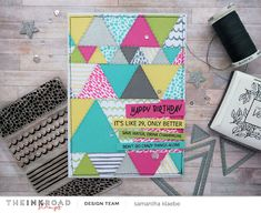 My Little Paper World: Ink Road Stamp: Pattern Play with Between the Line...
