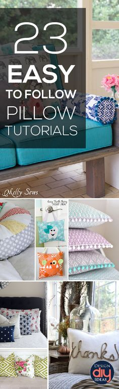 Pillows can transform a room quickly! Check out these 23 Easy Pillow Tutorials