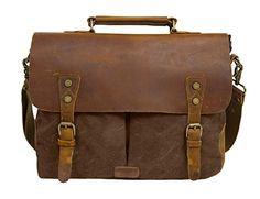 ca4ebadd051bd ECOSUSI New Men s Vintage Handbag PU Leather Shoulder Bag Messenger Laptop  Briefcase Satchel Bag Fit 14 inch Laptop looks excellent in designs