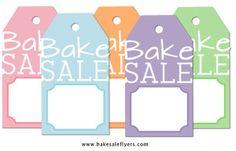 free printable bake sale tags