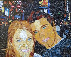 custom stained glass mosaic portrait